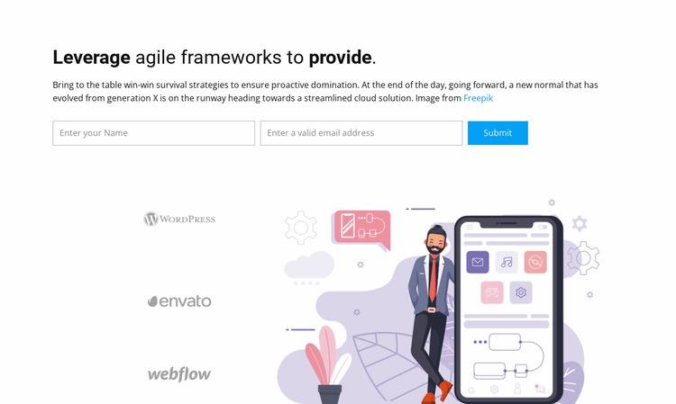 Leverage agile frameworks Html Website Builder