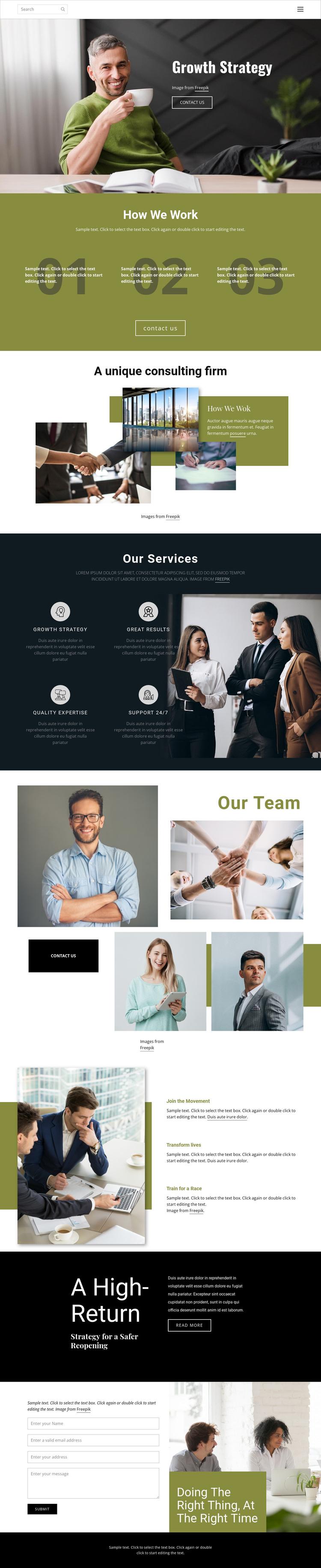 Strategic planning Joomla Page Builder