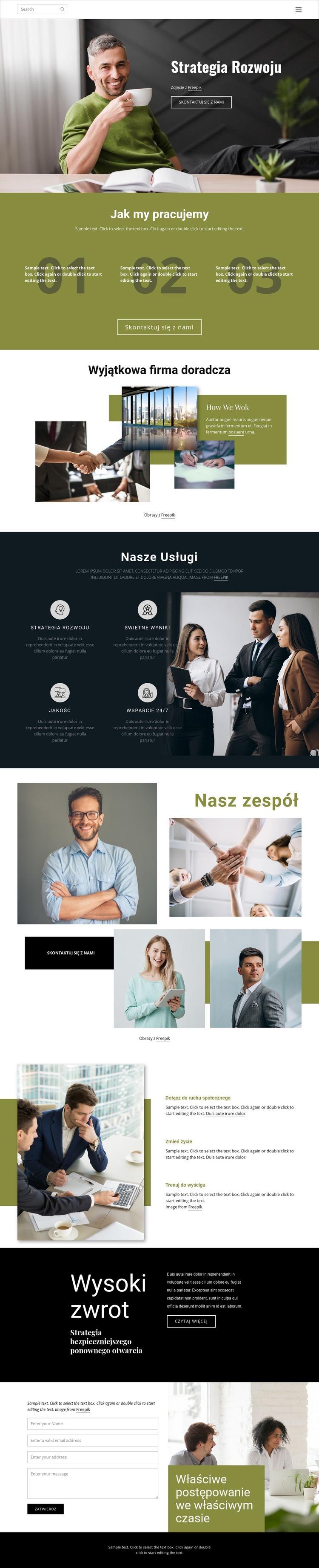 Sposoby na rozwój biznesu Szablon witryny sieci Web