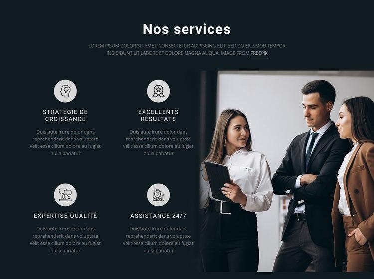 Nos services Modèle de site Web