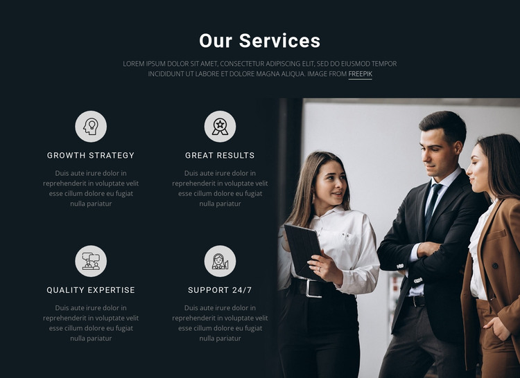 Our Servises HTML Template