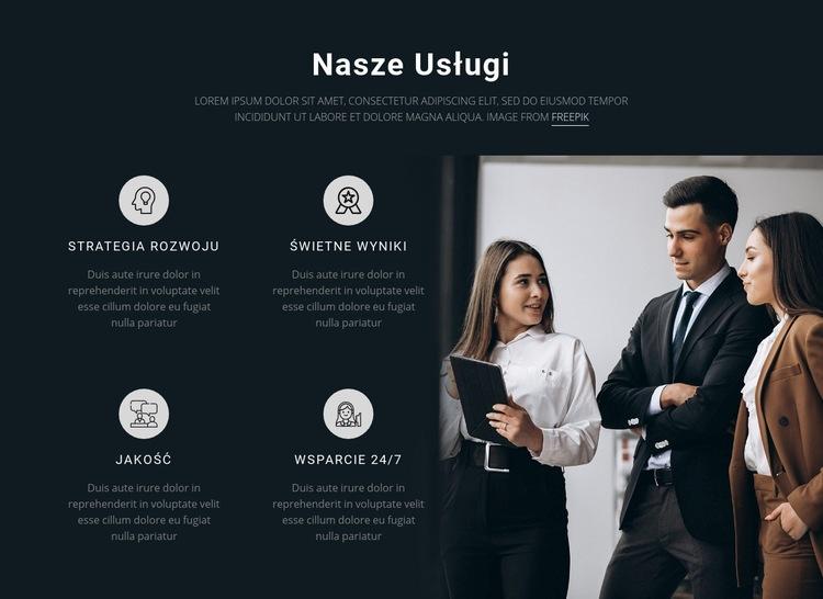 Nasze usługi Szablon witryny sieci Web