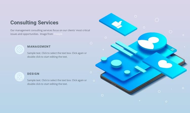 We provide business services Website Mockup