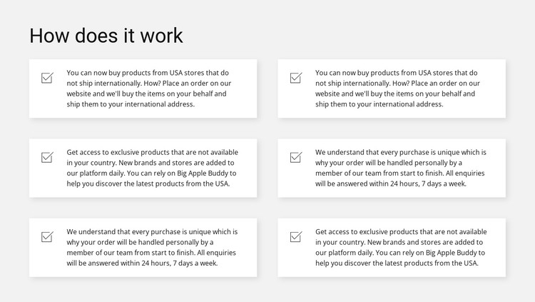Work by item CSS Template