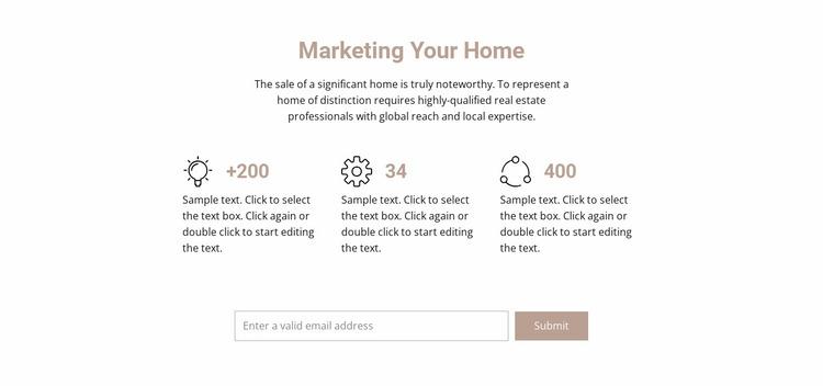 Title and benefits Website Mockup