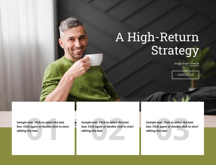 A Higth-Return Strategy Web Design