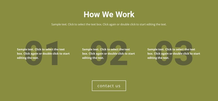 How We Work CSS Template
