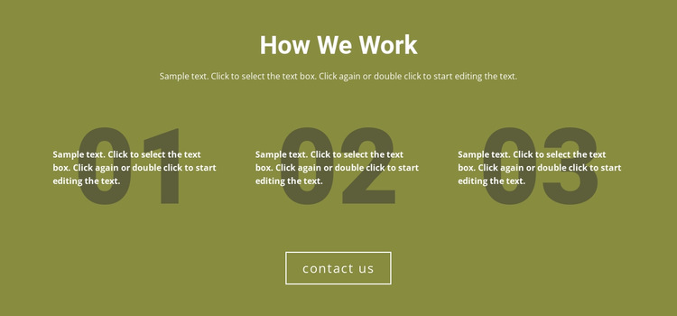 How We Work HTML5 Template