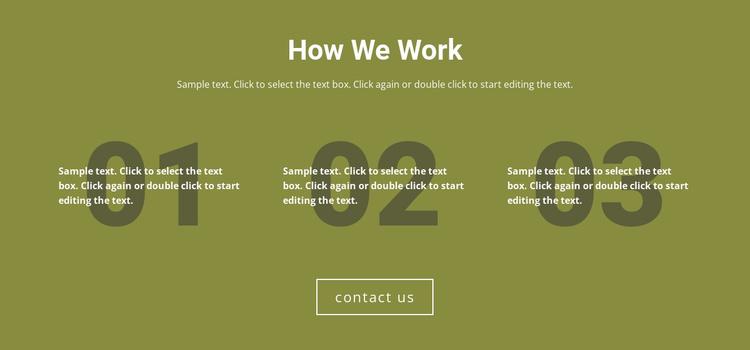 How We Work Joomla Template
