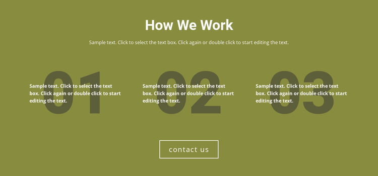 How We Work One Page Template