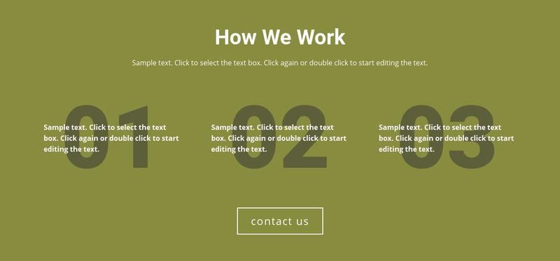 How We Work Web Page Designer