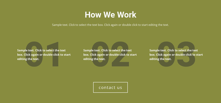 How We Work Website Builder