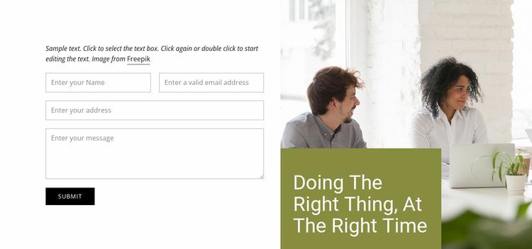 Contact Us Website Design