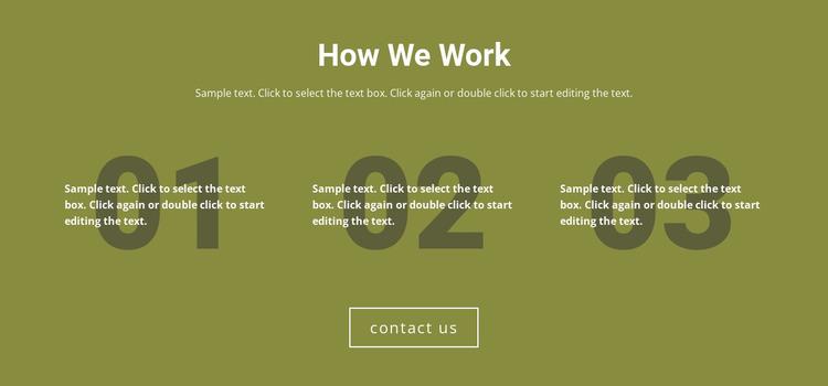 How We Work Website Mockup
