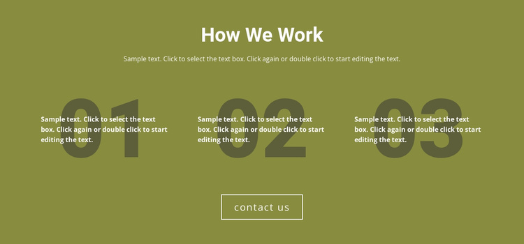 How We Work Website Template