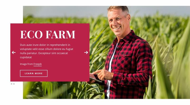 Eco Farm Web Page Designer