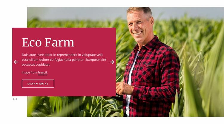 Eco Farm Landing Page