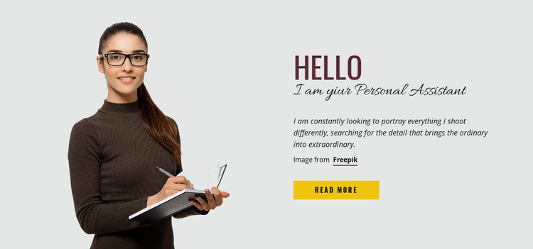 I am your Personal Assistant Website Template