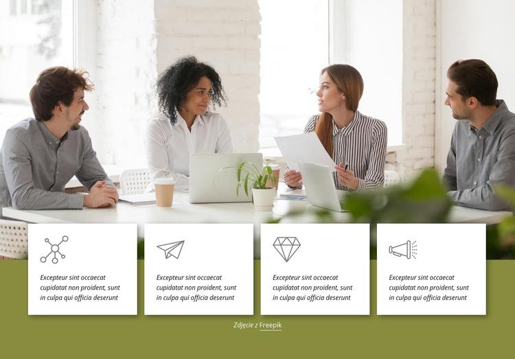 Nasza cyfrowa platforma dostawcza Szablon witryny sieci Web