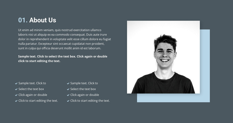 About quality work HTML Template