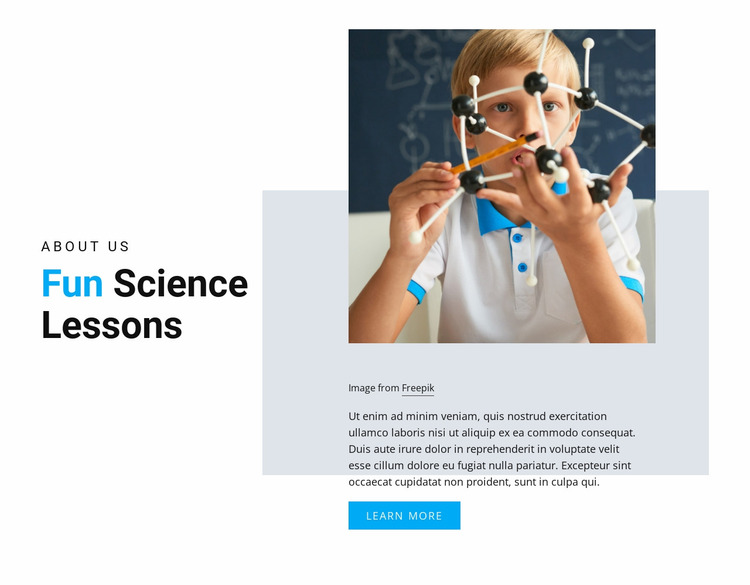 Fun Science Lessons Website Mockup