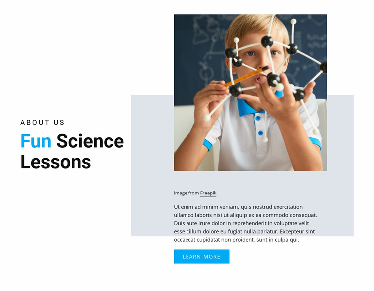 Fun Science Lessons Website Template