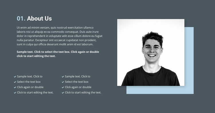 About quality work Website Template