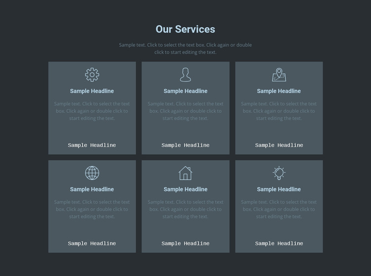 Our key offerings HTML5 Template