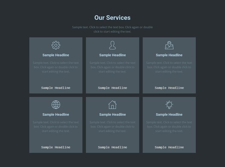 Our key offerings Joomla Template