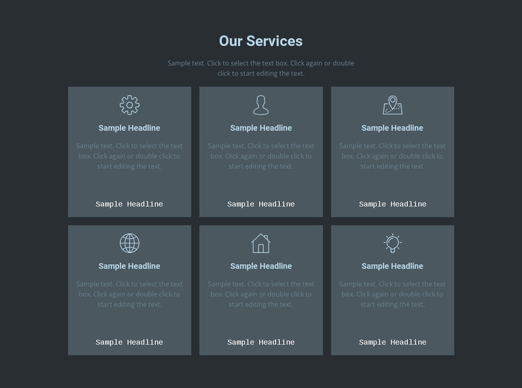 Our key offerings Template