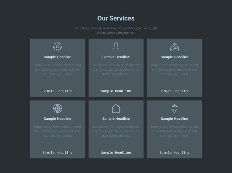 Our key offerings Website Mockup