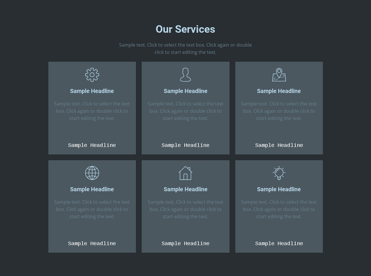 Our key offerings Landing Page