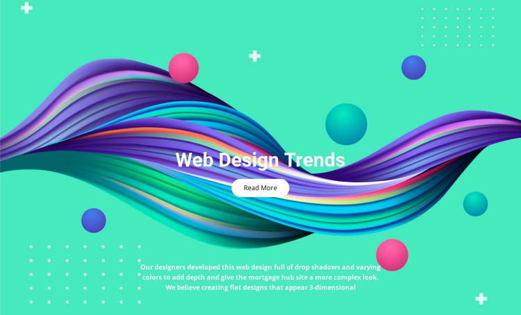 Illustration trends Website Template