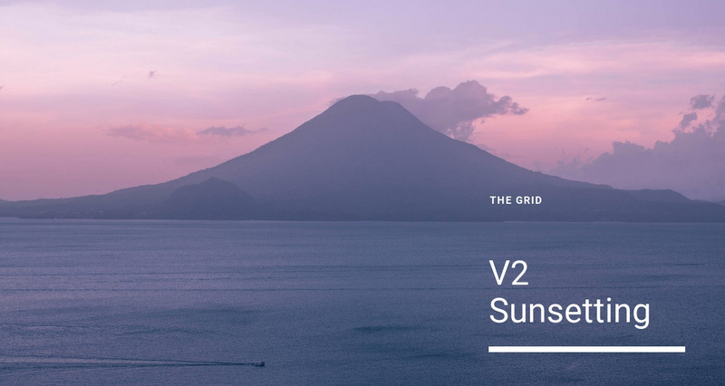 V2 sunsetting Web Page Design