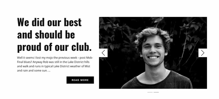 About our club Website Mockup