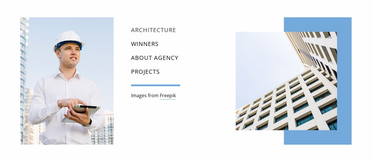 Planning architecture Website Template