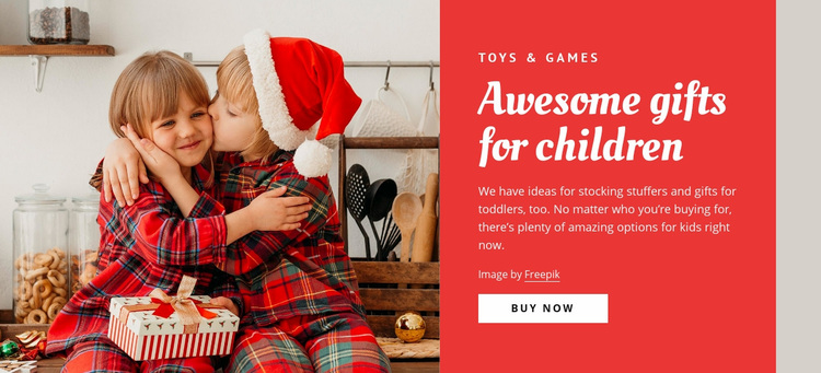 Awesome gifts for children Web Page Designer