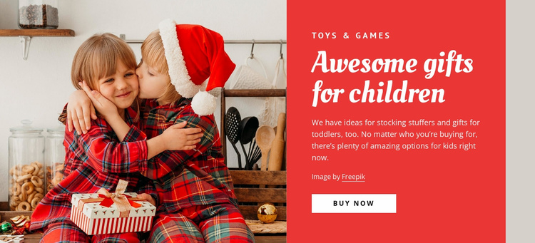 Awesome gifts for children Website Template