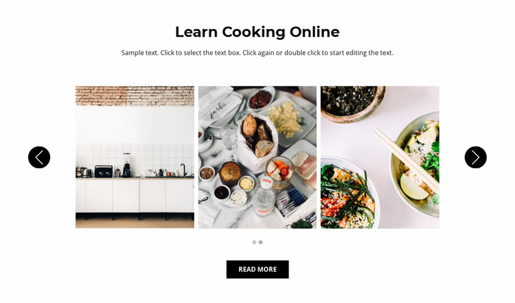 Cooking online Website Mockup