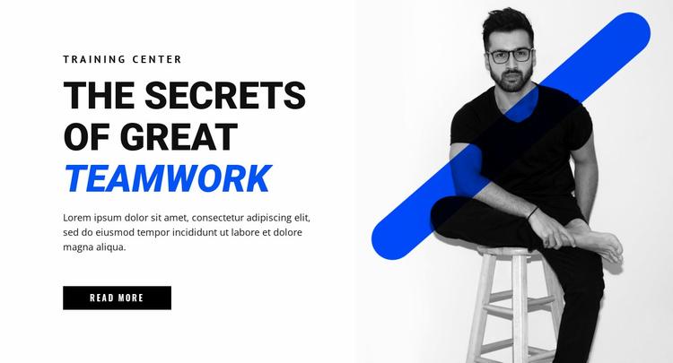 The secrets of teamwork Website Template