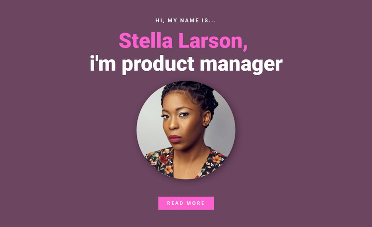 About product manager Website Mockup