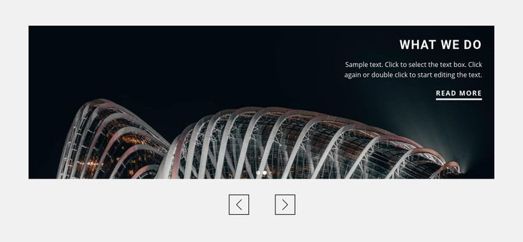 About architecture agency Homepage Design