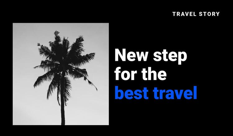 Travel story Joomla Template
