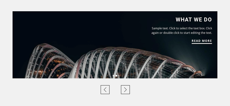 About architecture agency Landing Page