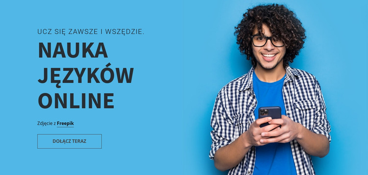 Laguage Learning Online Szablon Joomla