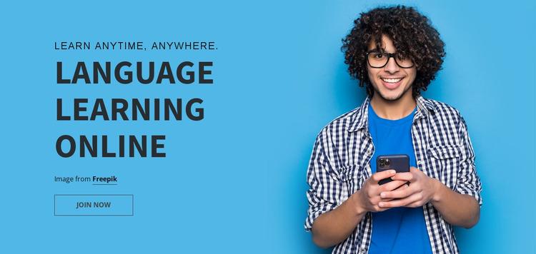 Laguage Learning Online Website Mockup