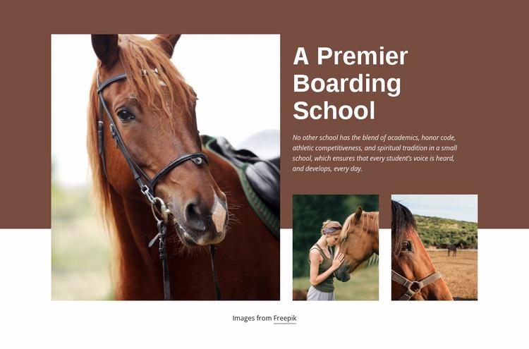 A Premier Boarding School Website Template