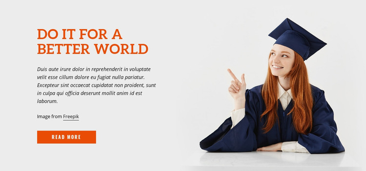 Do It for a Better World Homepage Design