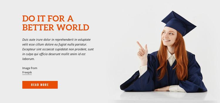 Do It for a Better World Web Design