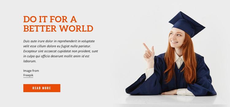 Do It for a Better World Website Mockup